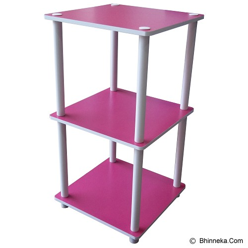 FUNIKA 3 Tier Mini Square Shelf [11213] - Pink - Rak Mini